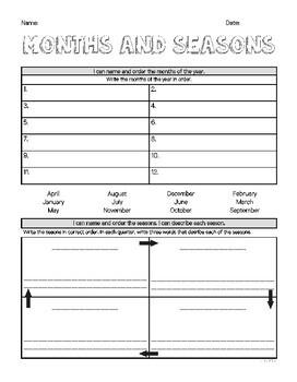 Year 2 Mathematics Assessment | MONTHS AND SEASONS