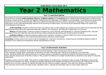 Year 2 Maths Overview - Australian Curriculum v8.3
