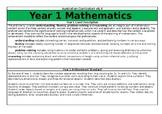 Year 1 Maths Overview - Australian Curriculum v8.3