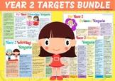 Year 2 Maths Science Reading Writing Targets Bundle