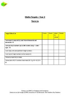 Year 2 Maths Targets Term 1a