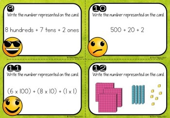 Australian Curriculum Place Value Worksheets and Task Cards Year 2