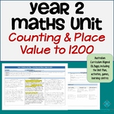 Year 2 Australian Curriculum Maths - Number & Place Value to 1200