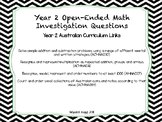 Year 2 Open-Ended Math Investigations
