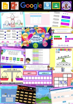 Year 2 Patterns and Algebra Smart Notebook and Unit of Work Bundle 2