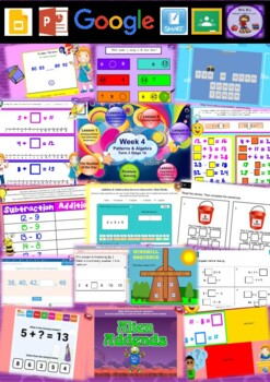 Year 2 Patterns and Algebra Smart Notebook and Unit of Work Bundle 3
