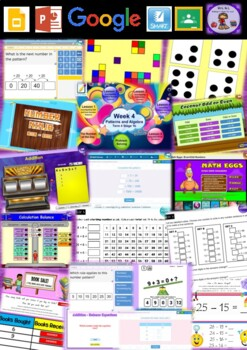 Year 2 Patterns and Algebra Smart Notebook and Unit of Work Bundle 4