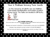 Year 2 Problem Solving Differentiated Task Cards