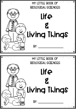 Year 2 Science Living Things Mini Books and Worksheets