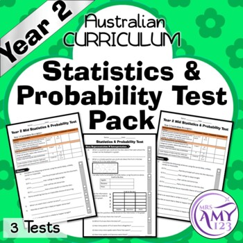 Year 2 Statistics & Probability Maths Test Pack- Australia