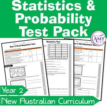 Year 2 Statistics & Probability Maths Test Pack- Australian Curriculum
