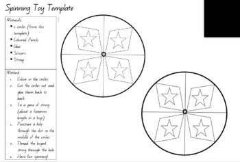 Year 2 Technology - Spinning Toy Template