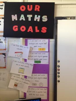 Queensland C2C Year 2 Maths Goals for Display Term 3