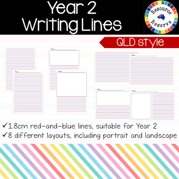 Handwriting Lines - Year 2 {QLD style}