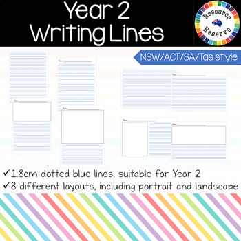 Handwriting Lines - Year 2 {NSW/ACT/SA/Tas style}