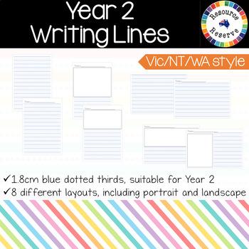 Handwriting Lines - Year 2 {Vic/WA/NT style}