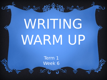 Year 2 Writing Warm Up Term 1 Week 6