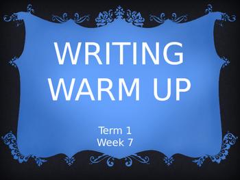 Year 2 Writing Warm Up Term 1 Week 7
