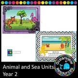 Ocean -sea and Animal units for Grade 2 (bundle)