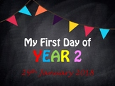 Year 2 first day photo banner