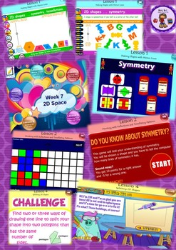 Year 3&4 2D Space Symmetry/Tessellation Smart Notebook and