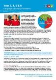 Year 3, 4, 5 & 6 Language & Literacy Developmental Milestones