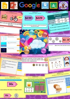 Year 3 & 4 Addition, Subtraction & MONEY Smart Notebook and Unit of Work Bundle3