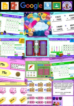 Year 3&4 Addition, Subtraction & Money Smart Notebook and Unit of Work Bundle 4