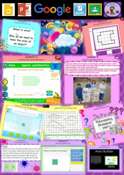 Year 3 & 4 Area Smart Notebook and Unit of Work Bundle 1