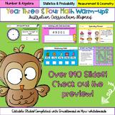 Editable Year 3 & 4 Australian Curriculum Math Warm-ups Di