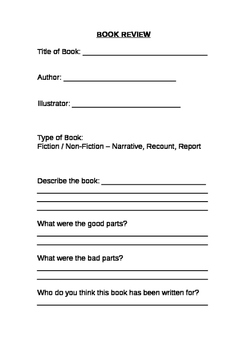 Year 3, 4 Book Review