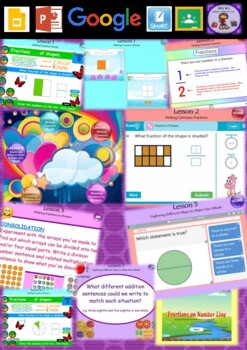 Year 3 & 4 Fractions and Decimals Smart Notebook and Unit of Work Bundle 1