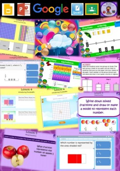 Year 3 & 4 Fractions and Decimals Smart Notebook and Unit of Work Bundle 2