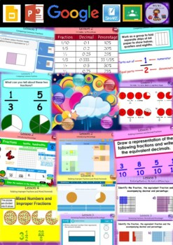 Year 3 & 4 Fractions and Decimals Smart Notebook and Unit
