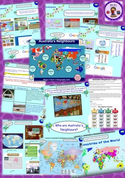 Year 3 & 4 Geography Unit Neighbouring Countries Smart Notebook and Unit of Work