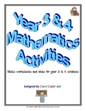 Year 3-4 Mathematics eBook - Worksheets - 64pages