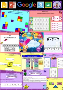 Year 3 & 4 Patterns and Algebra Smart Notebook and Unit of Work Bundle 1