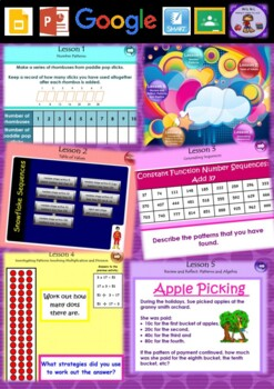 Year 3 & 4 Patterns and Algebra Smart Notebook and Unit of