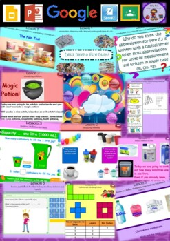 Year 3 & 4 Volume and Capacity Smart Notebook and Unit of Work Bundle 1