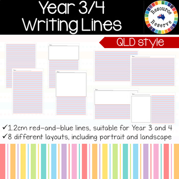 Handwriting Lines - Year 3 and 4 {QLD style}