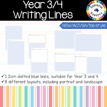 Handwriting Lines - Year 3 and 4 {NSW/ACT/SA/Tas style}