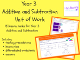 Year 3 Addition and Subtraction Unit Pack