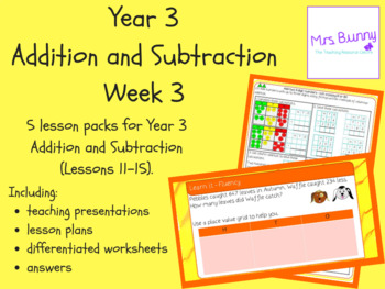 Year 3 Addition and Subtraction Week 3