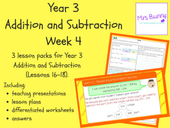 Year 3 Addition and Subtraction Week 4
