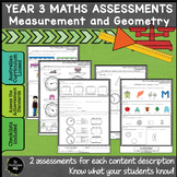 Year 3 Australian Curriculum Maths Assessment Measurement and Geometry