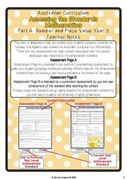 Year 3 Australian Curriculum Maths Assessment Part A Number and Place Value