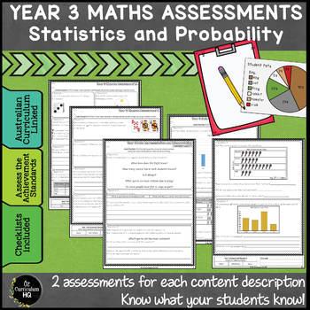 Year 3 Australian Curriculum Maths Assessment Statistics and Probability