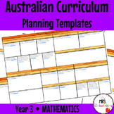 Year 3 Australian Curriculum Planning Templates: Mathematics - EDITABLE