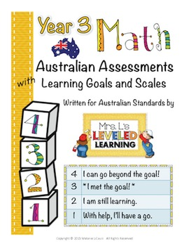 Year 3 Australian Math Assessments with Marzano Scales
