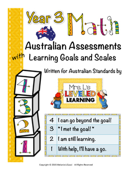 Year 3 Australian Math Assessments with Marzano Scales (Standards 1-3) -FREE!